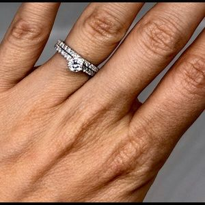 GIA certified bridal set.  Size 5.5